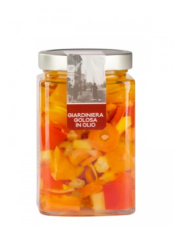 Gourmet pickled vegetable Giardiniera in oil, 705 g