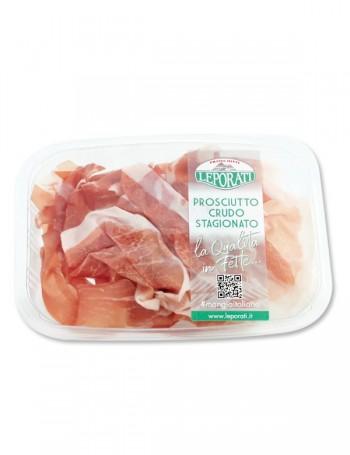 Prosciutto crudo Leporati stagionato oltre 26 mesi 90 g (Delivery only in Italy)