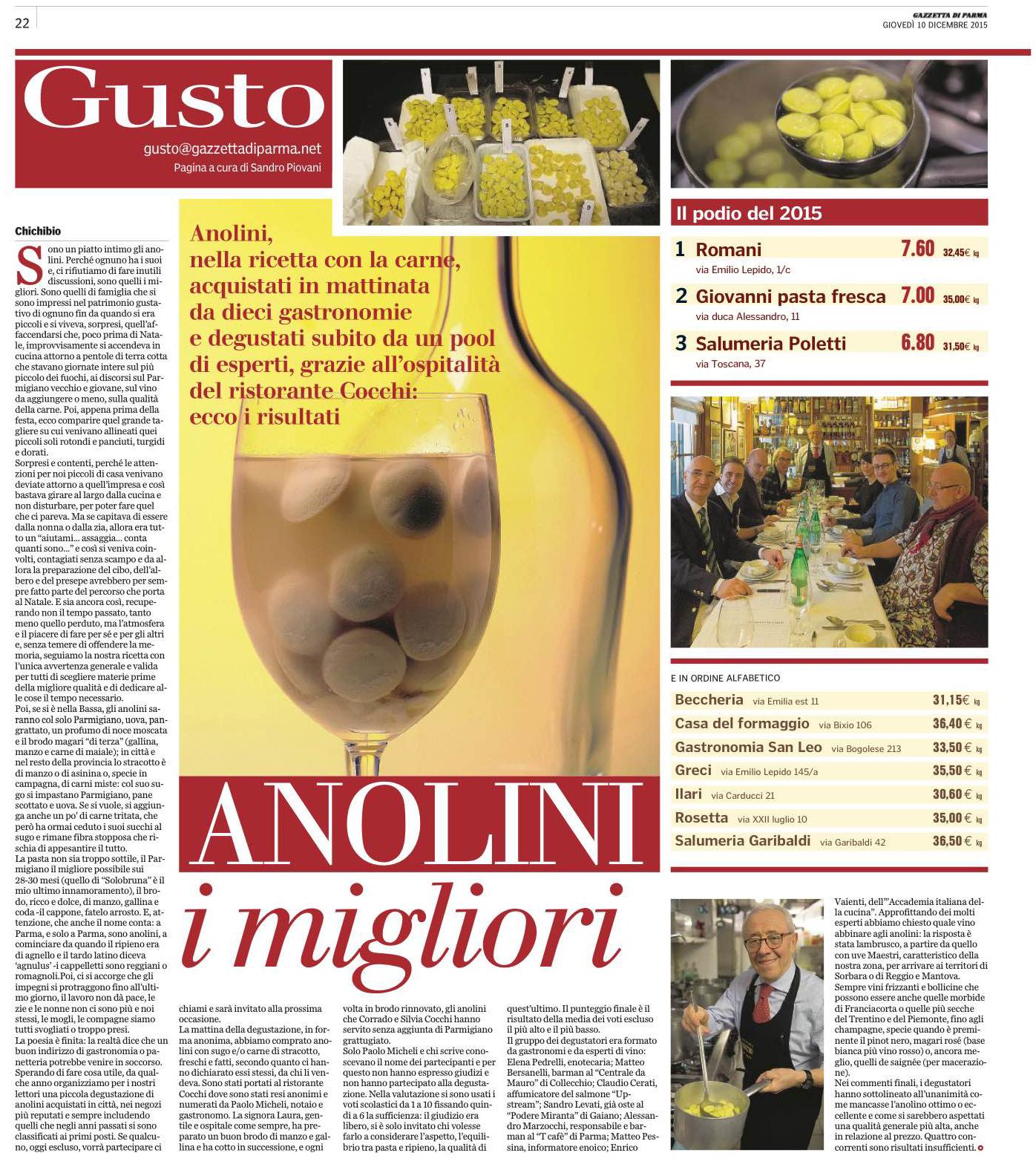 I migliori anolini di Parma