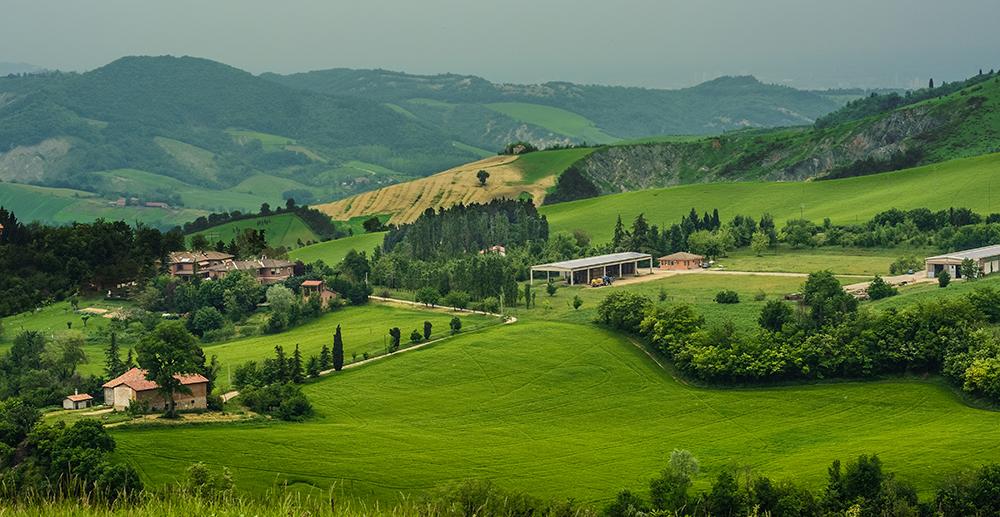 Parmigiano Reggiano's area of production